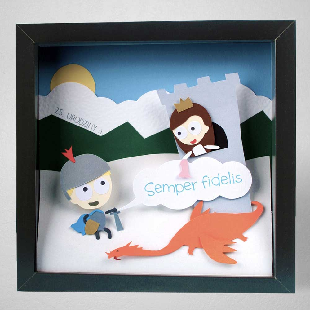 Dimensional pictures papercraft